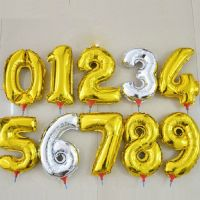 بادکنک فویلی عدد و حروف